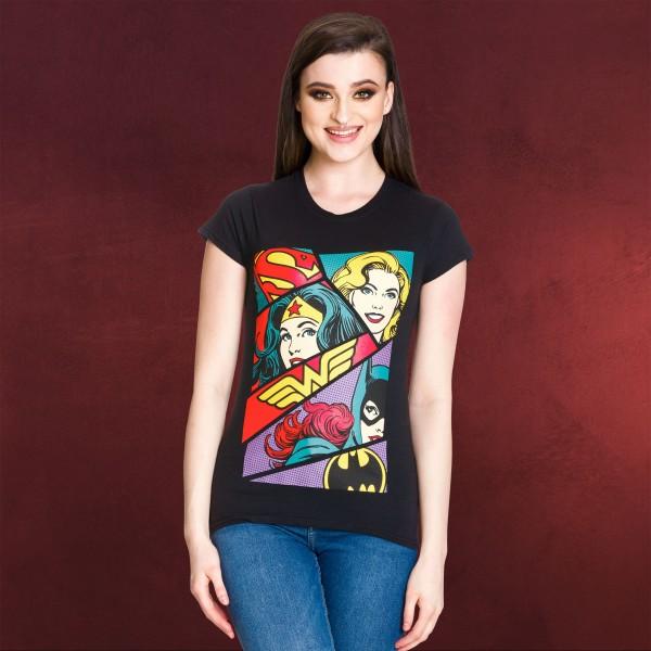 DC Comics - Supergirls Pop Art Girlie Shirt schwarz