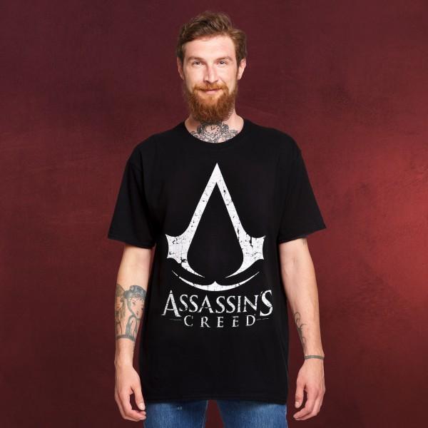 Assassin's Creed - Cracked Logo T-Shirt schwarz