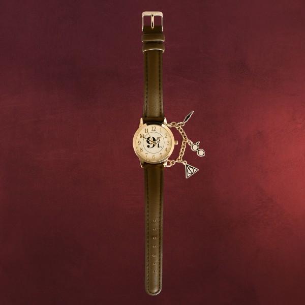 Harry Potter - 9 3/4 Armbanduhr mit Charms