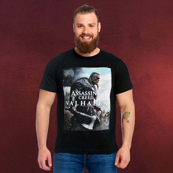 Assassin's Creed - Valhalla Cover T-Shirt schwarz