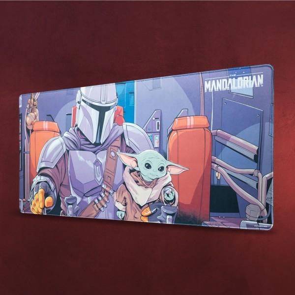 Grogu und Mandalorianer Mousepad - Star Wars The Mandalorian