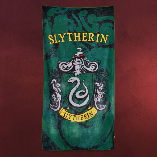 Harry Potter - Slytherin Wappen Strandtuch