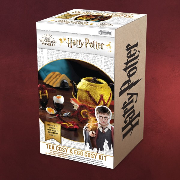 Harry Potter - Weasley Tee- & Eier-Wärmer Strick-Set