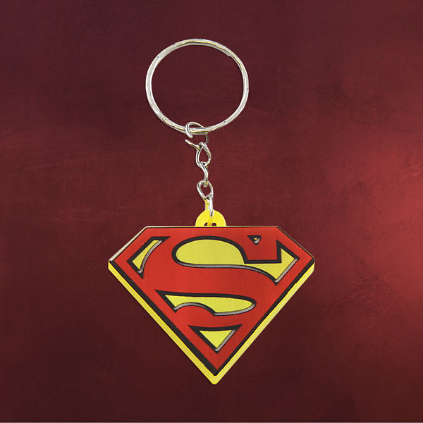 Superman - Logo Schlüsselanhänger mit LED