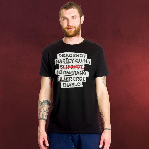Suicide Squad - Slipknot T-Shirt schwarz