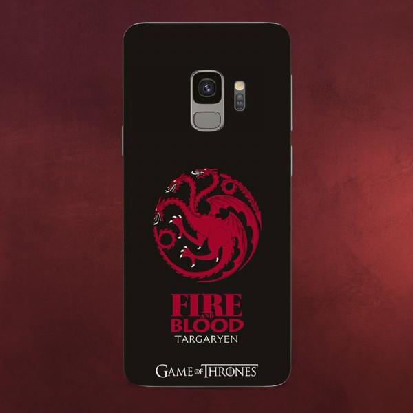 Game of Thrones - Targaryen Wappen Samsung Galaxy S9 Handyhülle Silikon schwarz