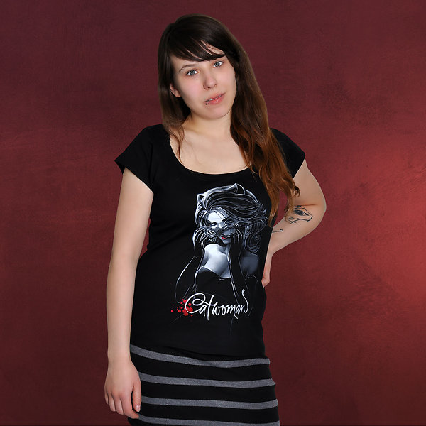 Catwoman Glam Girlie Shirt