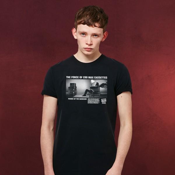 Retro Force Vibes T-Shirt für Star Wars Fans schwarz