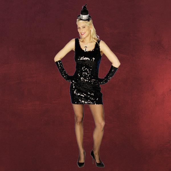 Paillettenkleid schwarz - Kostüm   Elbenwald