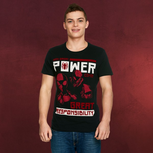 Spider-Man - Power vs. Responsibility T-Shirt schwarz