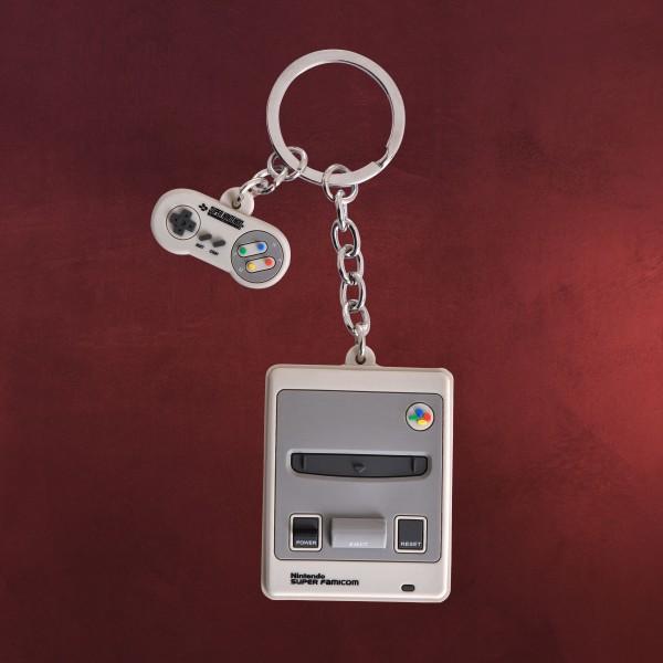 Nintendo - SNES Konsole und Controller Schlüsselanhänger