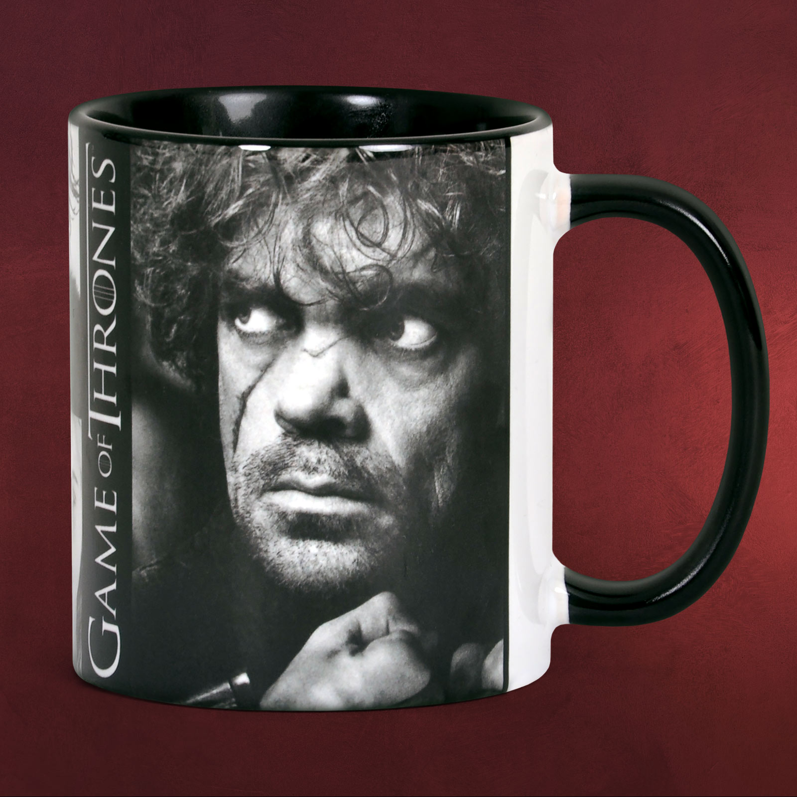 game of thrones tyrion lannister tasse black line elbenwald. Black Bedroom Furniture Sets. Home Design Ideas
