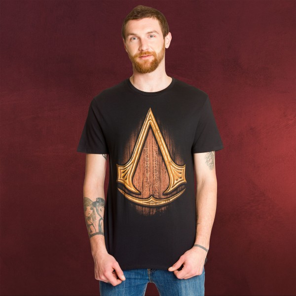 Assassins Creed - Insignia Wood T-Shirt schwarz