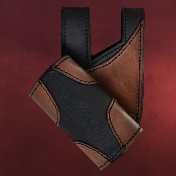 Schwerthalter King schwarz/braun - rechte Hand