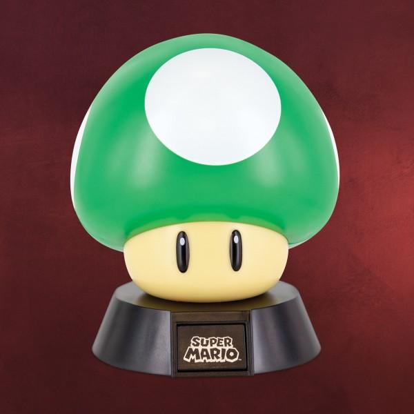 Super Mario - 1 UP Pilz Icons 3D Tischlampe