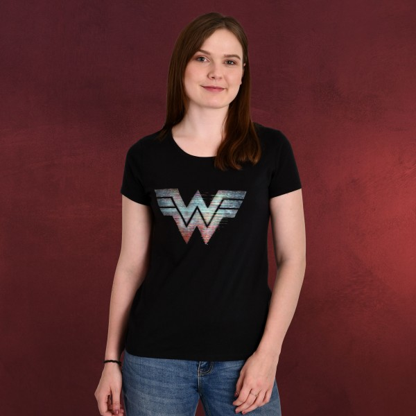 Wonder Woman - 1984 Logo T-Shirt Damen schwarz
