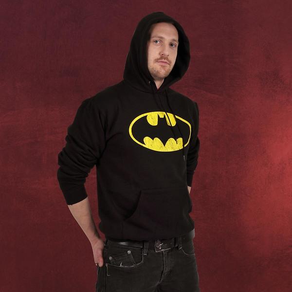 Batman Logo Hoodie mit Eingrifftasche