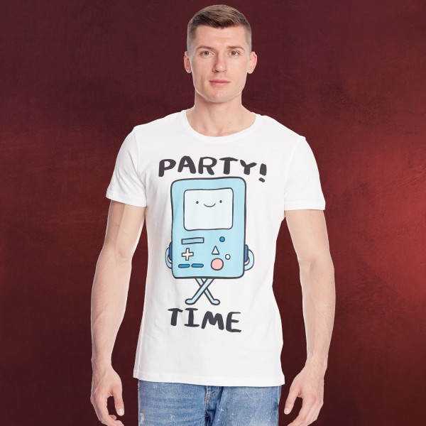 Adventure Time - Beemo Party Time T-Shirt weiß