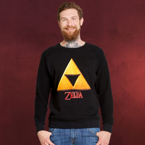 Zelda - Triforce Hyrule Logo Sweater schwarz