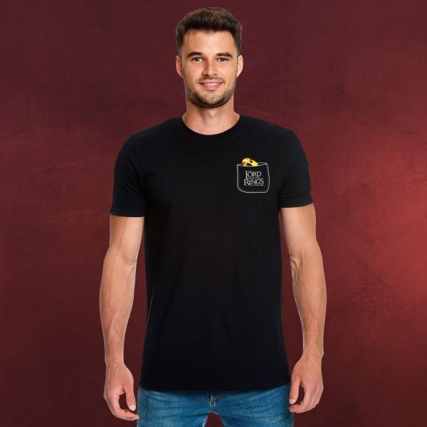 Herr der Ringe - Der Eine Ring Pocket T-Shirt schwarz
