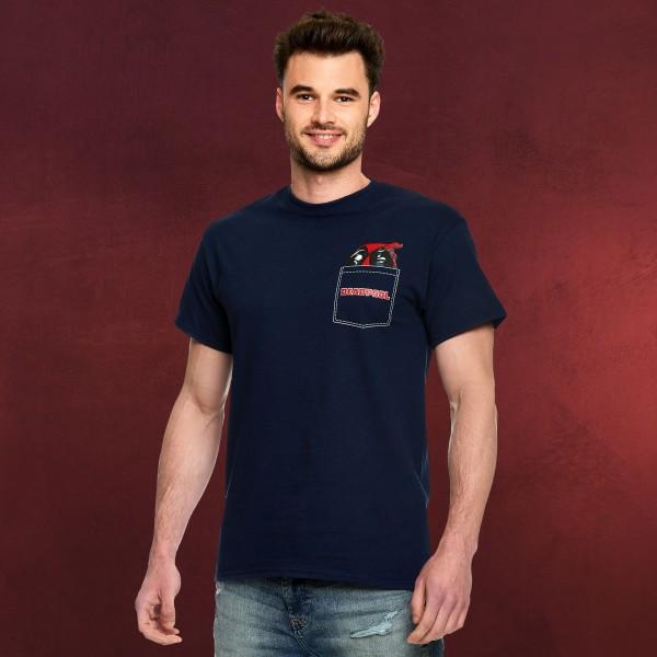 Deadpool - Pocket T-Shirt blau
