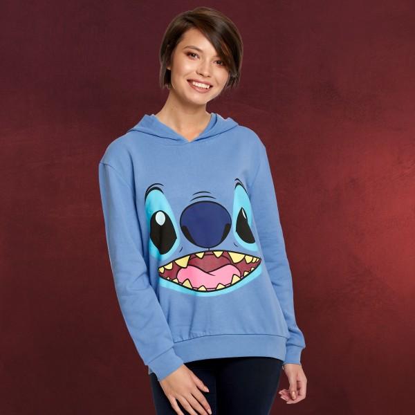 Lilo & Stitch - Face Hoodie blau