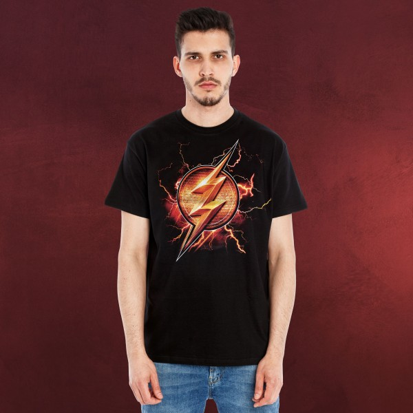 Flash - Logo T-Shirt Justice League schwarz