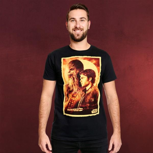 Star Wars - Han Solo und Chewie T-Shirt schwarz
