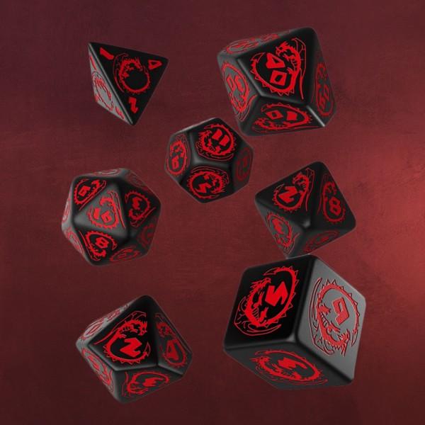 Dragons RPG Würfel Set 7tlg schwarz
