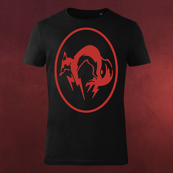 Metal Gear Solid - Fox T-Shirt schwarz-rot