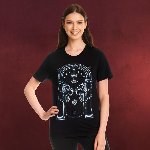 Türen von Durin T-Shirt Glow in the Dark für Herr der Ringe Fans