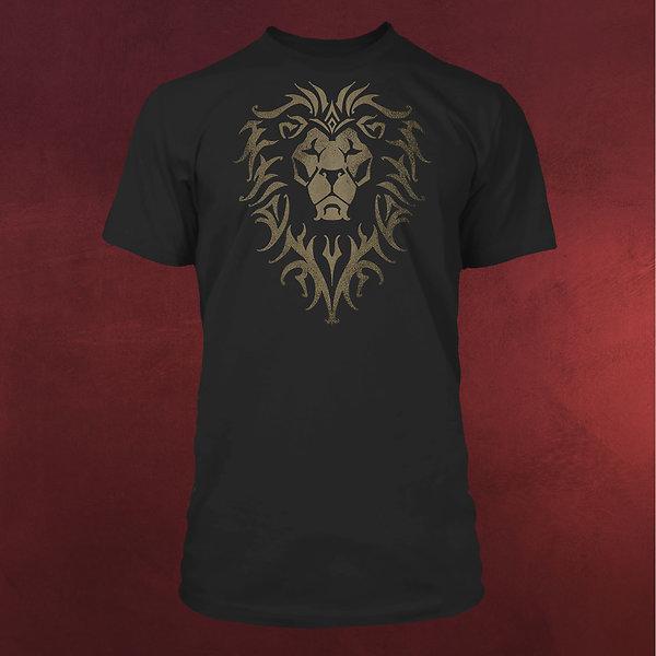 Warcraft - Alliance Logo T-Shirt schwarz