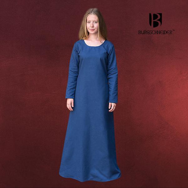 Mittelalter Unterkleid Freya blau