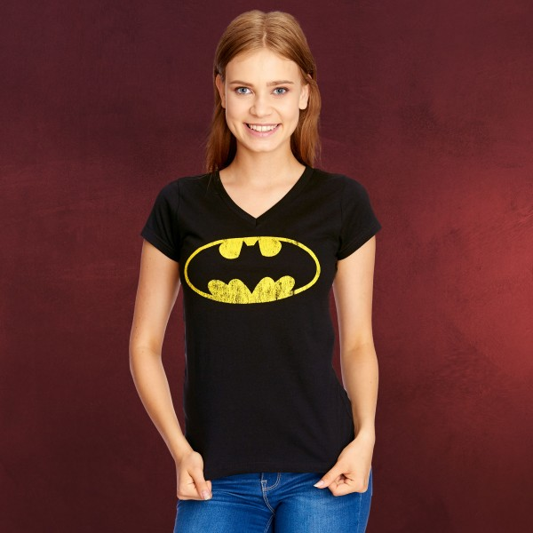 Batman - Distressed Shield Girlie Shirt