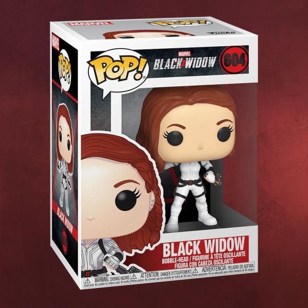 Black Widow White Suit Funko Pop Wackelkopf-Figur