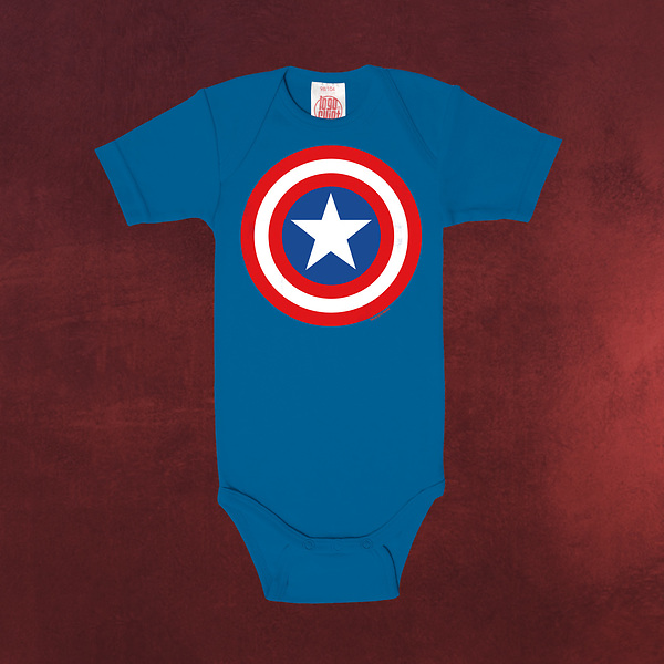 Captain America - Shield Baby Body blau