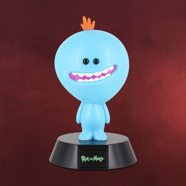 Rick and Morty - Mr. Meeseeks Icons 3D Tischlampe