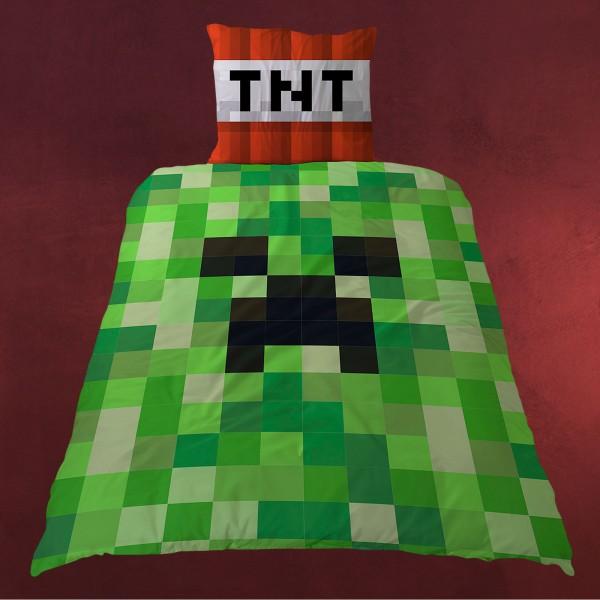 Minecraft - TNT Creeper Wende-Bettwäsche