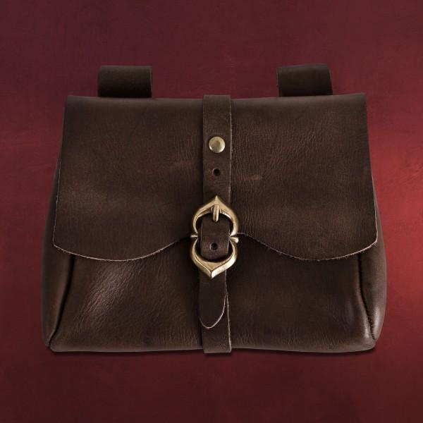 Mittelalterliche Tasche braun