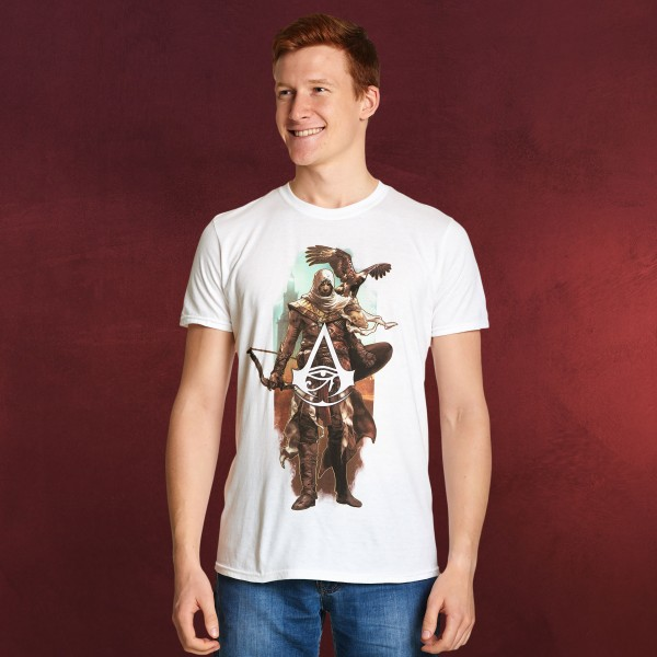 Assassins Creed - Bayek mit Senu T-Shirt weiß