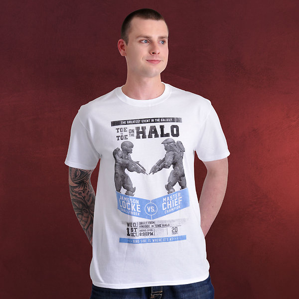 Halo - Fight Poster T-Shirt weiß