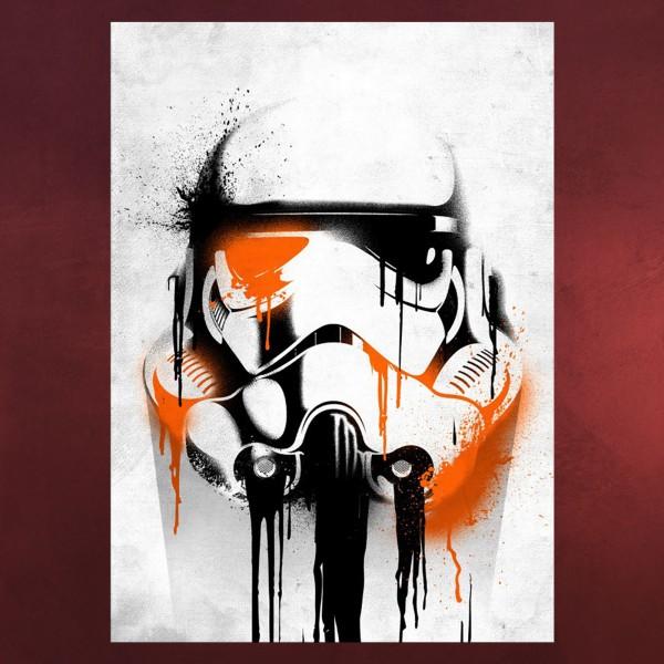 Star Wars - Stormtrooper Banksy Metall Poster