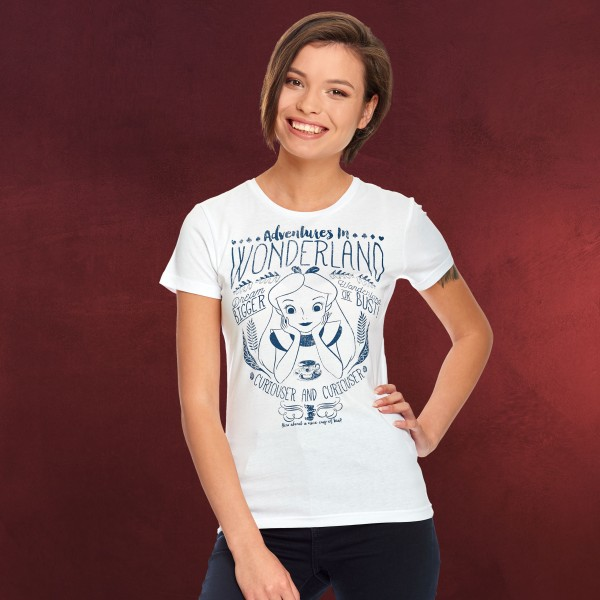 426e5372e810be Alice im Wunderland - Adventures in Wonderland T-Shirt Damen weiß ...