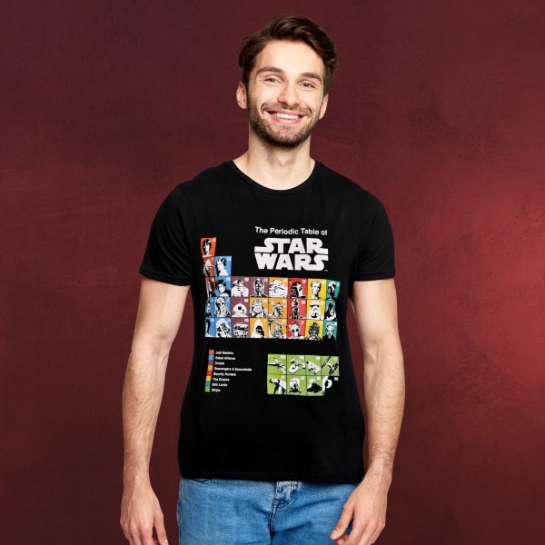 Star Wars - Periodic Table T-Shirt schwarz