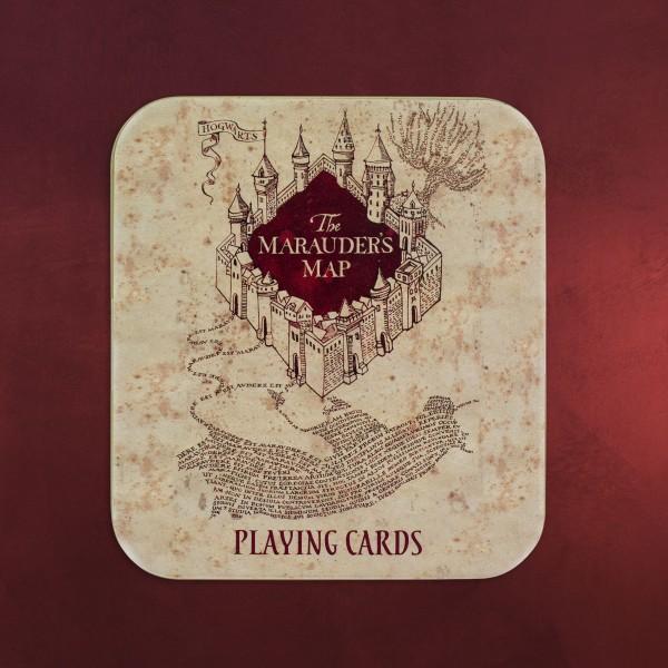 Harry Potter - Karte des Rumtreibers Spielkarten in Metallbox