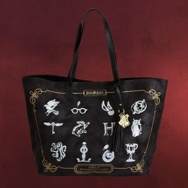 Harry Potter - Hogwarts Symbols Shopper Tasche
