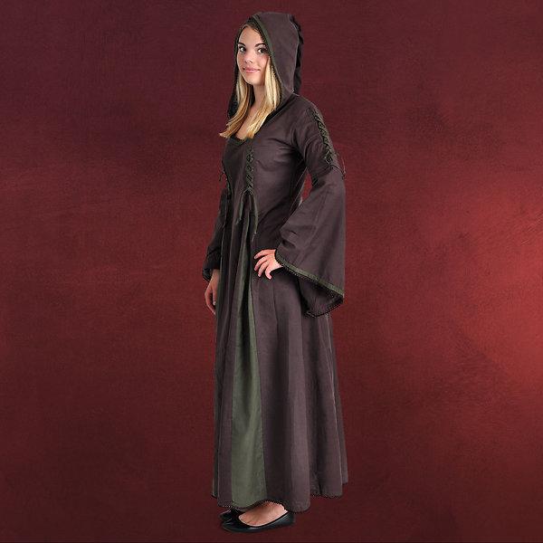 Mittelalter Kleid Martha braun-oliv