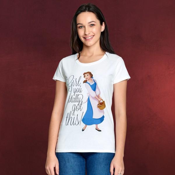 Die Schöne und das Biest - You Got This Belle T-Shirt Damen weiß