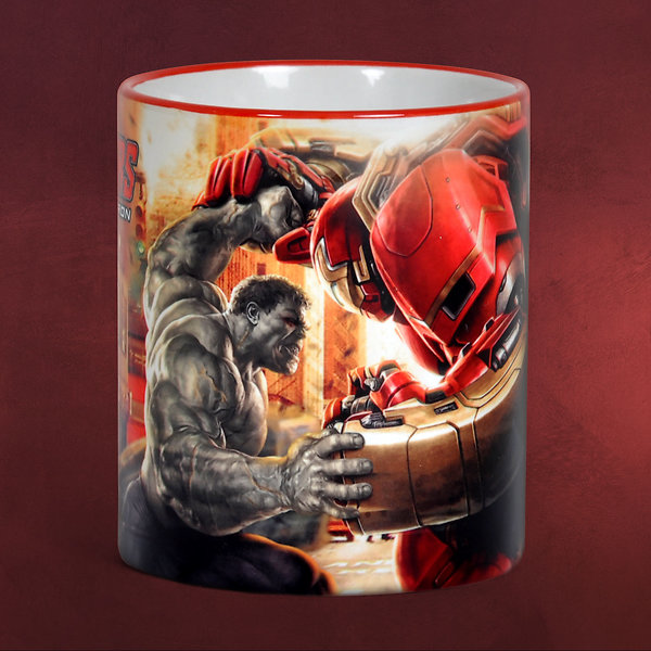 Avengers - Age of Ultron - Hulkbuster Tasse rot