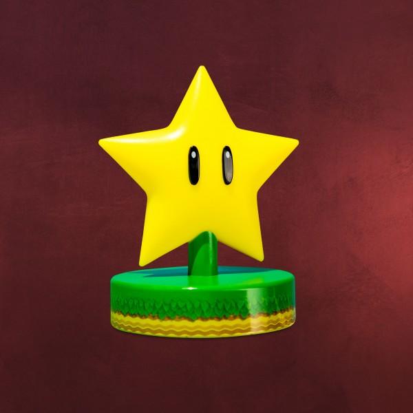 Super Mario - Super-Stern Icons 3D Tischlampe